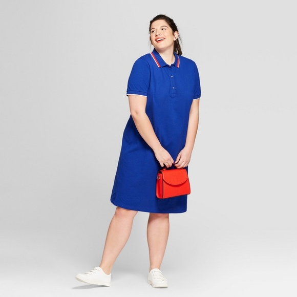 Ava & Viv Dresses | Ava Viv Womens Plus Size Polo T Shirt Dress Blue ...